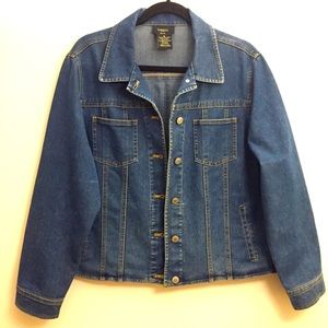 Haggar Petite Women's Denim Jeans Jacket